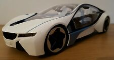 LARGE BMW i8 RECHARGEABLE RADIO REMOTE CONTROL CAR 1:14  WHITE