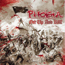 "Phobia ‎– Get Up And Kill ! 12"" EP Black Vinyl / New (2004) Punk Grindcore"
