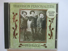 Television Personalities ‎– Privilege 1989 UK CD - FIRECD 21 - RARE 1st Pressing