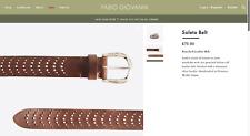 "Fabio Giovanni Soleto Italian Calf Leather Punched Belt Distressed BNIB 36"" 38"""