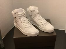 Gucci Italy Men's High-Top White Leather Basketball Sneaker Shoes NWB $840 ~11.5