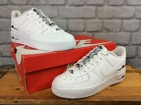 NIKE AIR FORCE 1 07 LV8 WHITE BLACK TRAINERS CHILDRENS LADIES MANY SIZES T