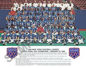 1990 NEW YORK GIANTS NFL SUPER BOWL XXV CHAMPIONS 8X10 TEAM PHOTO PICTURE