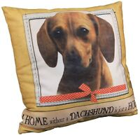 "Dog Breed Throw Pillow - 18"" Square - Dachshund"