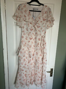 BNWT Oasis White Floral MIDI Dress