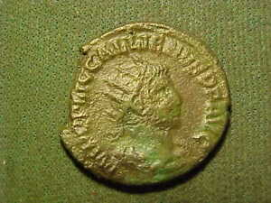 Ancient Roman  bronze  coin  as pictured