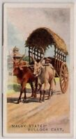 Malay Straits States Bullock Cart Wagon South East Asia 1920s Trade Ad Card