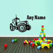 Personalised Name Farm Tractor Wall Sticker Boys Bedroom Removable Vinyl Decal
