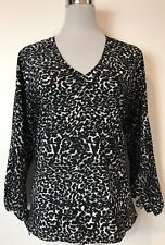 BNWOT WITCHERY ANIMAL PRINT BLOUSE / TOP SIZE 10 WORK / OFFICE / EVENING