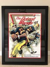 1974 Vintage WFL Detroit Wheels Football Team original Poster With Costom  Frame