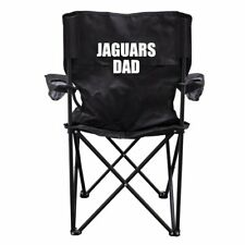 Jaguars Dad Black Folding Camping Chair with Carry Bag