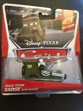 Disney Cars Race Team Sarge with Headset - Brand new