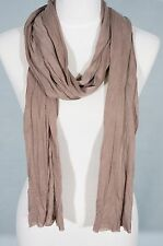 Taupe Brown color Plain scarf, summer. skinny scarf 236