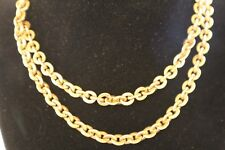"""LARGE VINTAGE """"MS CO"""" 1/20 12KYELLOW GF ROLO NECKLACE 7MM X 30"""" 69.8 GRAMS"""
