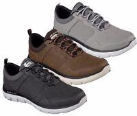 SKECHERS FLEX ADVANTAGE DALI 52124 scarpe uomo sportive casual pelle sneakers