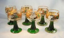 SET OF SIX LUMINARC STEMWARE GLASSES MADE IN FRANCE...RHINESTONES....ETCHED