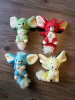 RARE Lot of 4 Neopets Faellie Petpet Green Yellow Red Blue Plushies Stuffed Toy