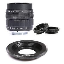 Fujian 50mm F1.4 CCTV Movie Lens+C Mount to Micro 4/3 m4/3 EPL5 EPM3 EPL7 Black
