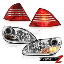 "2000-2006 M-Benz S-Class W220 ""FACTORY STYLE"" LED Tail Lights Chrome Headlights"