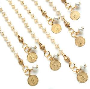 John Wind Bracelet Gold Mini Coin Pearl Initial Charm Maximal Art Jewelry
