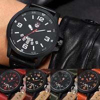 Luxury Men Stainless Steel Date Watch Military Sports Analog Quartz Wrist Watch