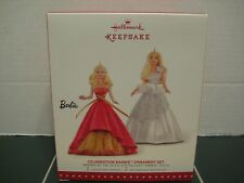 HallMark KeepSake Celebration Barbie Christmas Tree Ornament 2015 Two Ornaments
