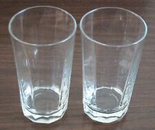 Anchor Hocking 16 oz. Clear Glass Paneled Tumbler Glasses Lot of 2