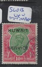 KUWAIT   (PP1501B)  ON INDIA KGV 10R SERVICE SG O13 TELEGRAPH CANCEL  VFU CHEAP