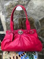 Coach Large Madeline Fuschia Pink Leather Satchel Tote F13675 ( pu130