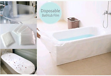 Disposable Bathtub Liner Bag Cover for Travel, Spa, Hotel, Baby Bath (5 + 1 pcs)