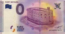 17 FORT BOYARD BILLET 2015 ZERO 0 EURO NO BANKNOTE JETON COINS TOKEN MONNAIE