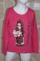 Joli tee_shirt fille rose de marque CHICA  VAMPIRO taille 8 ans (dy)