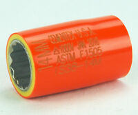 """Cementex IS38-24 3//8/"""" Square Drive Insulated Socket 3//4/"""" 12 Point Standard S4"""