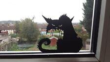 Scary Black Cat Spooky Car/Bike/Window/Wall/Laptop Halloween Vinyl Decal Sticker