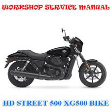 HARLEY DAVIDSON STREET 500 XG500 BIKE WORKSHOP SERVICE MANUAL (DIGITAL e-COPY)
