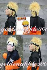 """12""""30cm NARUTO Minato Namikaze Fourth Hokage Blonde Cosplay Wig Only Wig"""