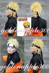 NARUTO Minato Namikaze Fourth Hokage Blonde Cosplay Wig Only Wig