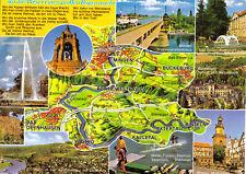 AK, Weserbogen bei Minden, Landkarte und neun Abb., 1985