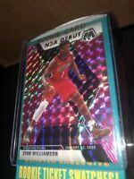 🔥 ZION WILLIAMSON 2019-20 PANINI NBA MOSAIC PINK PRIZM #269 ROOKIE NBA DEBUT