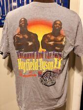 Vtg Tyson Vs Holyfield Ii Bite Fight T-Shirt 1997 L Deonte Wilder