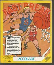 FAST BREAK - Accolade - Boxed Original COMMODORE 64 C64 CASSETTE GAME - Tested