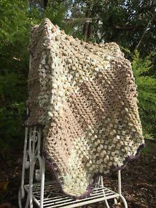 """Handmade Crochet Baby/Newborn, Toddler Bobble Blanket/Throw. """"Caramel Cream"""""""