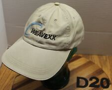 WEAVEXX FABRIC MACHINERY HAT TAN EMBROIDERED STRAPBACK ADJUSTABLE VGC D20