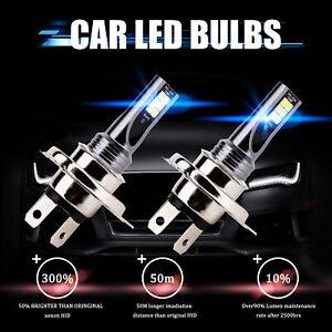 2x H4 LED Voiture Phare CSP 200W Ampoule Feux Avant 30000LM Xenon 6000K Blanc HS