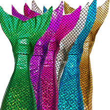 Sparkle scale Swimmable Mermaid Tails monofin swimsuit kids girls BOY cos gift