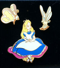 Disney DL Alice in Wonderland, Bread and Butterfly, Rocking Horse Fly 3 Pin Set
