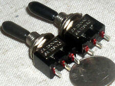 2 MINI SPDT SINGLE POLE ON-ON TOGGLE SWITCH 125 VAC 6A 6 AMP RUBBER HANDLE TIP