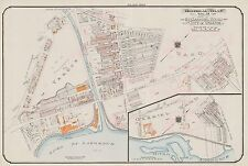 1913 CHARLES E. GOAD MONTREAL CANADA ST. GABRIEL WARD CHURCH COPY PLAT ATLAS MAP