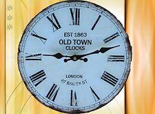 Wanduhr OLD TOWN Glass Batt D.30cm Sammler Geschenk in Vintage Ästhetik Rarität