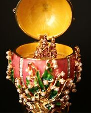 """St Petersburg Russian Faberge Egg: Lilies of the Valley, with Music, 4.7"""""""
